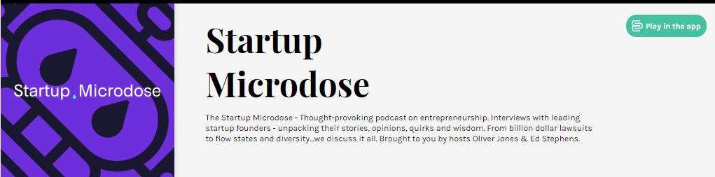 startup microdose podcast